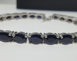 Natural Sapphire Bracelet in Silver 925