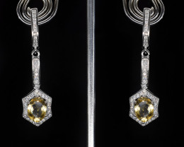 EXCLUSIVE EARRINGS Made with Genuine CITRINE and Sterling Silver BE15