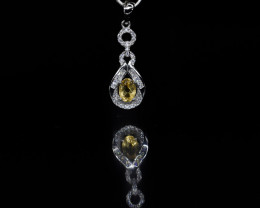 EXCLUSIVE PENDANT Made with Genuine CITRINE  and Sterling Silver BP6