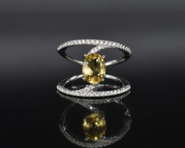 EXCLUSIVE RING Made with Genuine CITRINE  and Sterling Silver BR10
