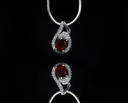EXCLUSIVE PENDANT Made with Genuine GARNET  and Sterling Silver BP3
