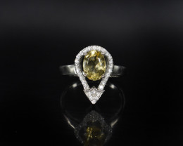 EXCLUSIVE RING Made with Genuine CITRINE  and Sterling Silver BR9