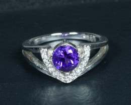 BEAUTY AMETHYST 925 silver ring-