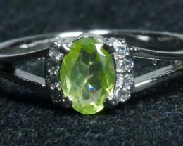 NATURAL PERIDOT 925 silver ring-