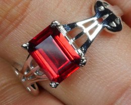 BEAUTY GARNET 925  silver ring-