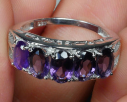 ... BEAUTY AMETHYST Sterling silver  Ring 925 Size ...