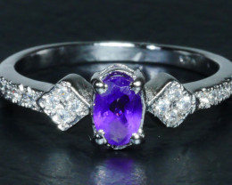 ... BEAUTY AMETHYST Sterling silver ring- Ring 925 Size 10.35crt ...
