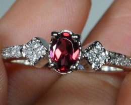 BEAUTY GARNET 925 Sterling silver  Ring 925 Size ...7.5 US