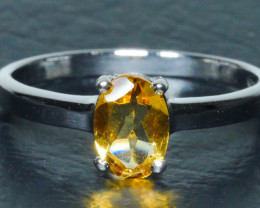 GOLDEN YELLOW CITRINE Sterling silver  Ring 925 Size ... 7 (US)