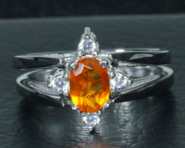 GOLDEN YELLOW CITRINE 925 Sterling silver ring-