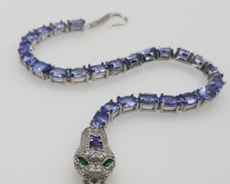 A Stunning Tanzanite Bracelet with CZ