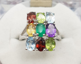 Natural Mix Stones Ring.