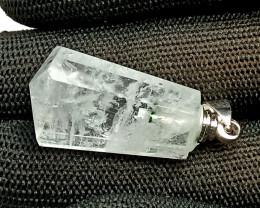 Natural Crystal Aquamarine Pendant Transparent Pendant