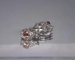 Natural Color Change Garnet 8 Ct. in 925 Silver Earrings by DANI Jewellery