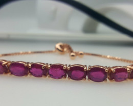 Glass Filled Ruby Bracelet.