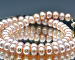Natural Fresh Water Pearls Necklace (Hand Made)