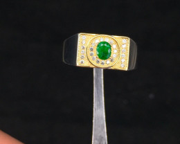 Afghanistan Pansher  Emerald With Zircon Rings