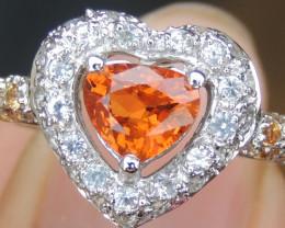 Fanta Spessartite & Sapphire Ring