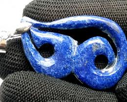 Natural Blue Lapis Lazuli Crafted Pendant 29.15 Carats