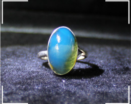 Beautiful Genuine Dominican Natural Clear Sky Blue Amber .925 Sterling Silv