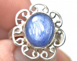 21.5 Carat 925 Sterling Silver / Kyanite Ring - Size 7.5 - Gorgeous