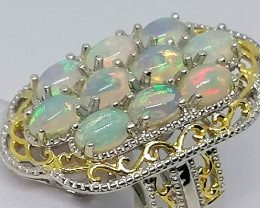 Welo Opal Cluster Ring 3.00 TCW