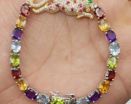 Leopard Mix stone bracelet.