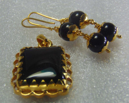 gold plated pendent and earring ~ 999 silver designs