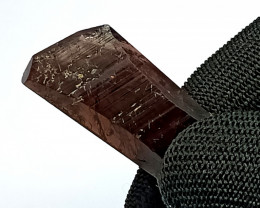 42.60 Carats Natural Brown Axinite Crystal Silver Pendant