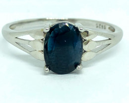 9.65 Crt Natural Sapphire 925 Silver Ring