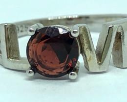 12.00 Crt Natural Garnet 925 Silver Ring