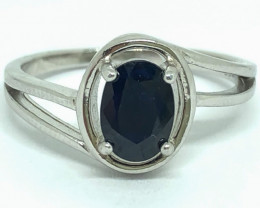 10.60 Crt Natural Sapphire 925 Silver Ring