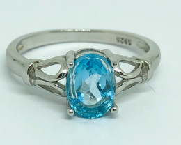 10.35 Crt Natural Topaz 925 Silver Ring