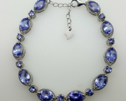 Natural Beautiful Tanzanite Bracelet.