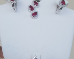 Glass filled Ruby Set.