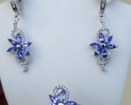 Top Beautiful Tazanite Earring and Ring