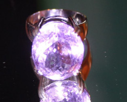 Amethyst 13.12ct Platinum Finish Solid 925 Sterling Silver Ring
