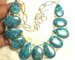 444.0 Tcw. Copper Turquoise Amalgam Sterling Silver - Gorgeous