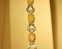 Natural Opal Bracelet.