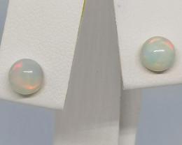 Natural Welo Opal Earrings 1.10 TCW in 9kt. Gold