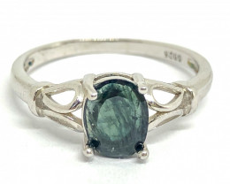 10.0 Crt Natural Sapphire 925 Silver Ring