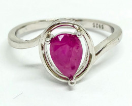 8.65 Crt Natural Ruby 925 Silver Ring