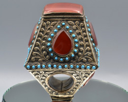 Gypsy Style Afghan Kuchi Tribal Ring Vintage Style Handmade Ring