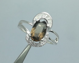 Natural Brown Axinite 17.00 Carats 925 Silver Pendant
