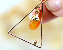Carnelian Stone Earth Triangle Shape Pendant - BR 2659