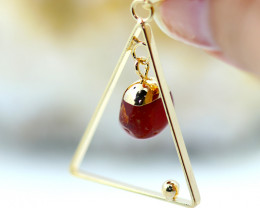 Carnelian Stone Earth Triangle Shape Pendant - BR 2660