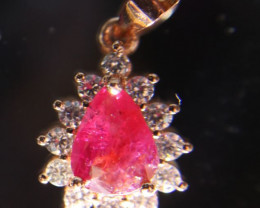Tajik Ruby 1.55ct Rose Gold Finish Solid 925 Sterling Silver Pendant Natura