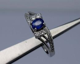 15Crt  Sapphire Ring 925 silver JIR09(18)