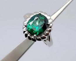 28.45Crt Green Topaz Ring 925 Silver JIB01