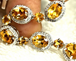 67.0 Tcw. Citrine Sterling Silver Bracelet - Gorgeous
